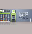 atm cash automatic teller machine payment terminal vector image vector image