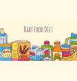 bahealthy food banner vector image vector image