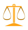 balance scale icon balance symbol - justice sign vector image vector image