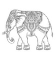 beautiful hand-drawn tribal style elephant vector image