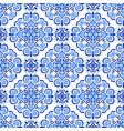 blue background abstract floral pattern vector image vector image
