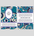 brochure in blue and lilac colors vector image vector image