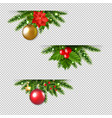 christmas garland set transparent background vector image vector image
