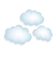 clouds with a shadow isolated vector image