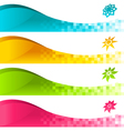 colorful banner with icons vector image