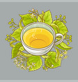cup of linden tea vector image vector image