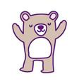 cute bear animal wildlife cartoon vector image
