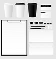 design concept of mockup coffee cup set vector image vector image