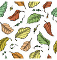 foliage seamless plant pattern background vector image vector image