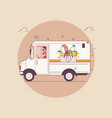 food deliveryfood in packagethin line colorful vector image