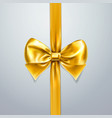gold bow and ribbon silk satin or foil packing vector image vector image