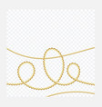 golden or bronze color round chain realistic vector image vector image