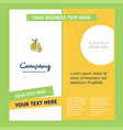 grapes company brochure template busienss template vector image