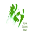 green greased hand imprint vector image