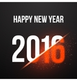 Happy New Year 2016 Explosion Poster Background vector image