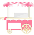 Ice cream pink cart vector image vector image