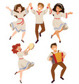 israeli and balkan folk dance vector image