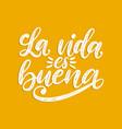 la vida es buena translated from spanish life vector image