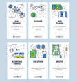 line art web and mobile app template set vector image vector image