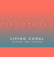 living coral shiny circle particles abstract vector image