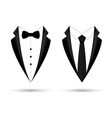 man suit icon isolated background with bow and tie vector image vector image