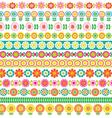 mod flower border patterns vector image vector image