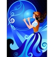 Musician flutist Girl playing the flute fife vector image