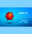 polygonal coronavirus microorganism 3d vector image