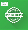 promotion rubber stamp icon business concept vector image