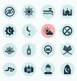 ramadan icons set collection of no alcohol place vector image vector image