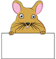 Rat cartoon with blank sign