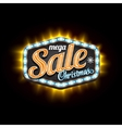 Retro Sale Christmas Light Banner with vector image