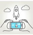 Rocket Shot vector image vector image