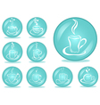 set of coffee buttons vector image vector image