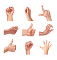 set of gestures vector image vector image