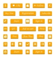 Set of orange buttons and web elements for vector image vector image