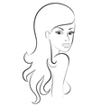 sketch of womans portret vector image