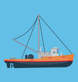 small fishing boat vector image