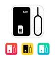 Standard SIM icon vector image vector image