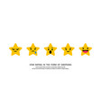 stars rating in the form emotions vector image