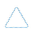 stitched border or sewing seams triangle frame the vector image vector image