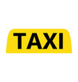taxi emblem on white background vector image vector image