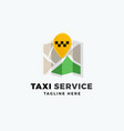 taxi service point abstract app icon sign vector image vector image