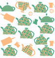 tea pot seamless abstract pattern it is located vector image vector image