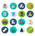 trash icon set vector image