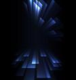 triangle overlap stripe rush in dark background vector image