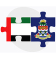 United Arab Emirates and Cayman Islands vector image
