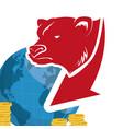 wall street bear world money vector image vector image
