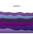 wave-blue-violet vector image vector image