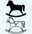 Wooden rocking horse vector image